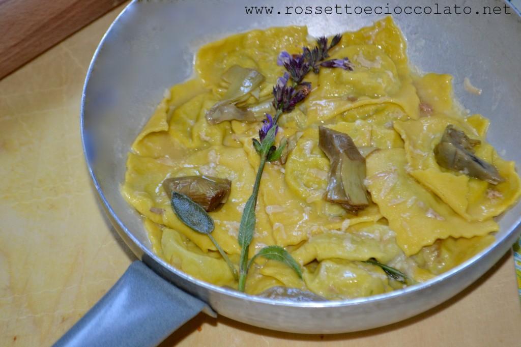 ravioli carciofi