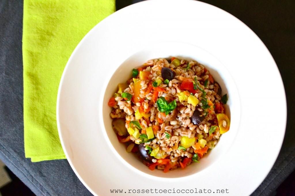 insalata di farro multicolore
