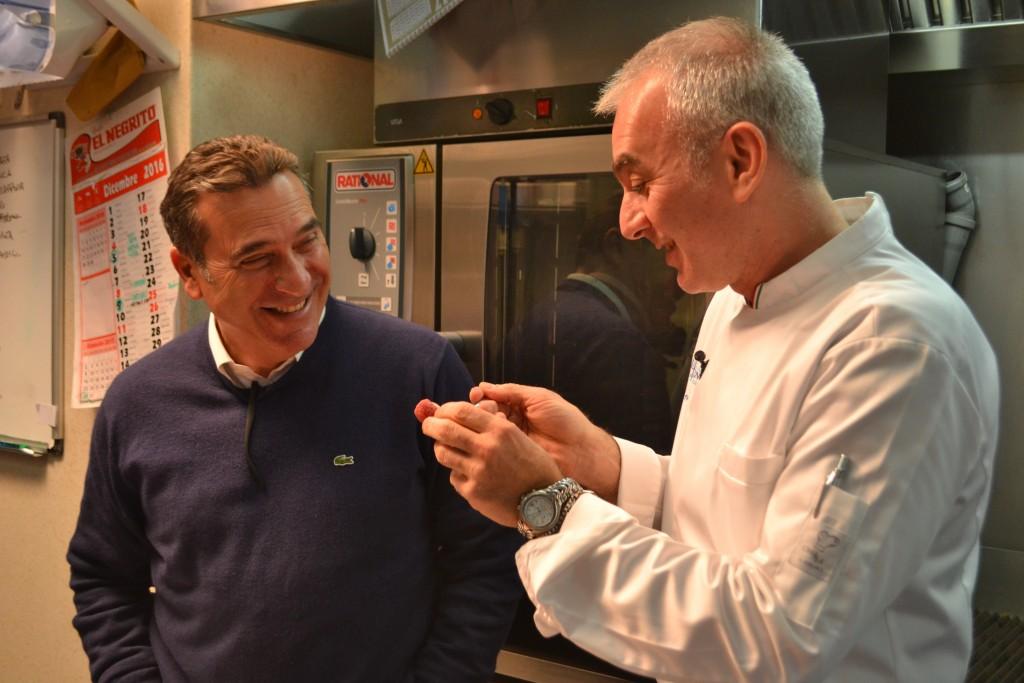 Lo chef Pasquale Caliri con l'imprenditore Ivo Blandina