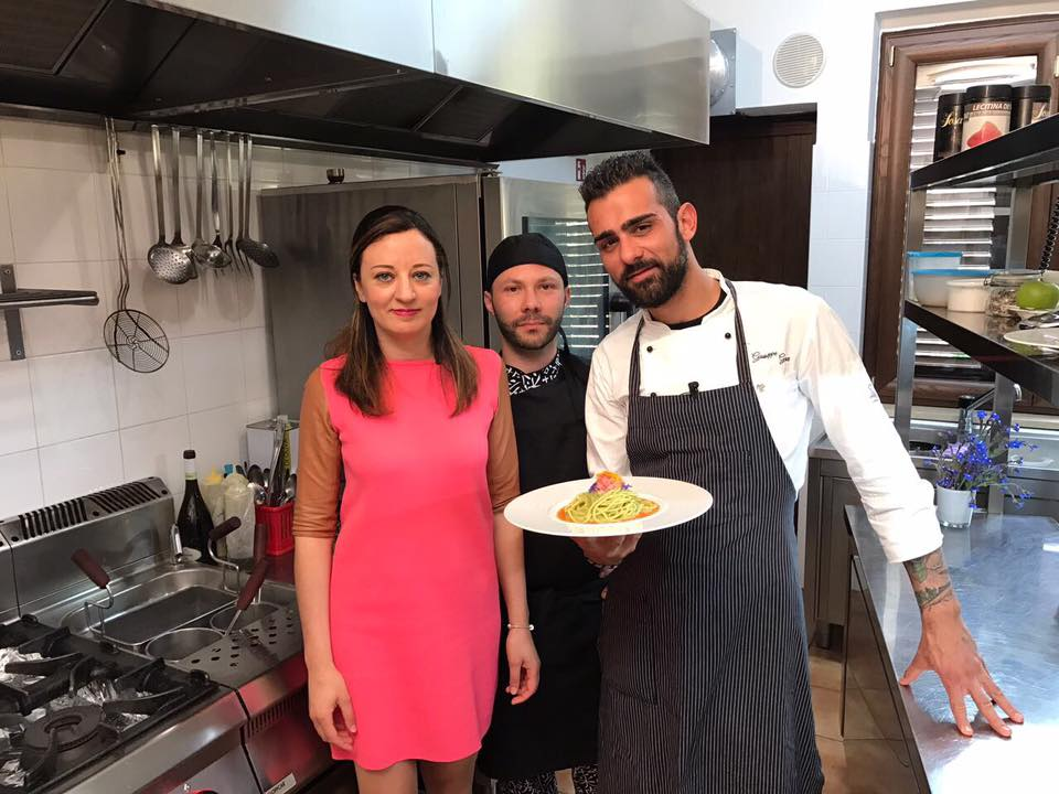 Con lo chef Giuseppe Geraci e Giuseppe Maimone