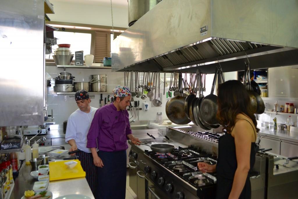 Con gli chef del Perissa Felice Leonardi e Giovanni Mangano