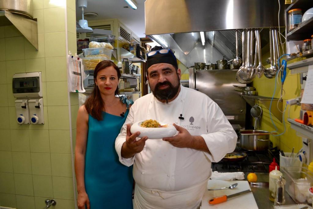 Con lo chef Gianni Lettica