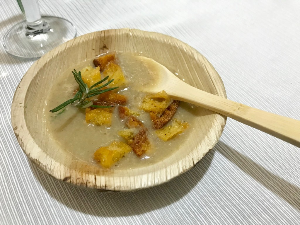 Zuppa di porcini e patate dello chef Pino Drago