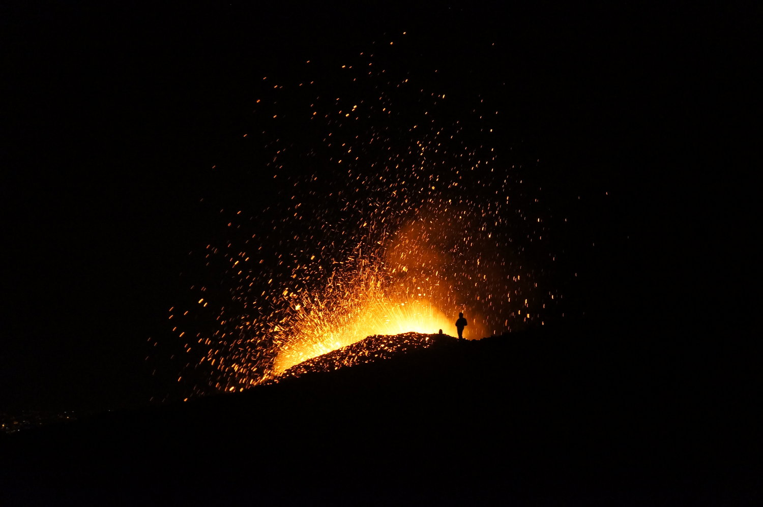 The two new little craters on North-eastern side of Mount Etna