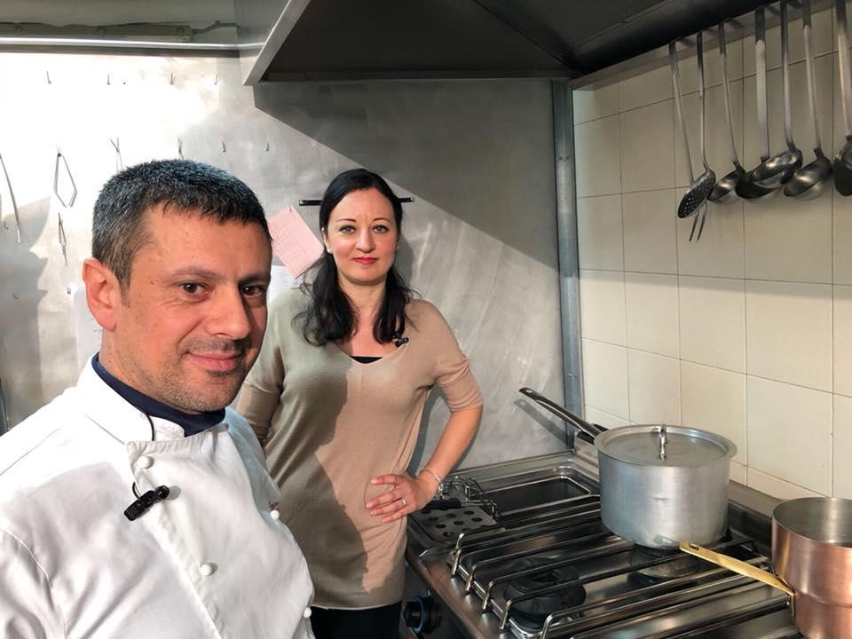 Con lo chef Franco Agliolo