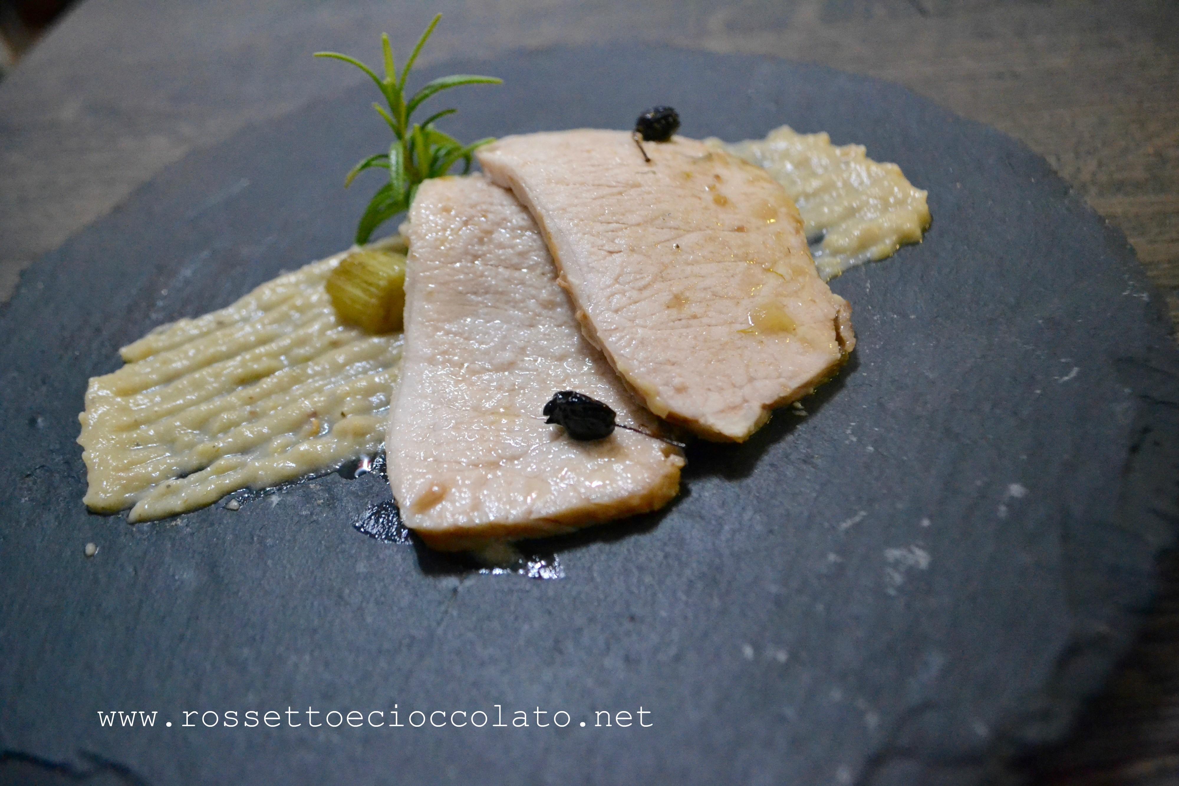 Arrosto di maiale in salsa di finocchi