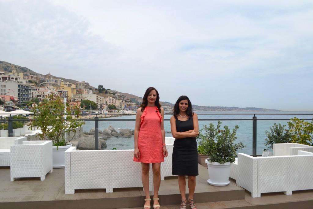 Con la direttrice del Perissa, Roberta Argurio