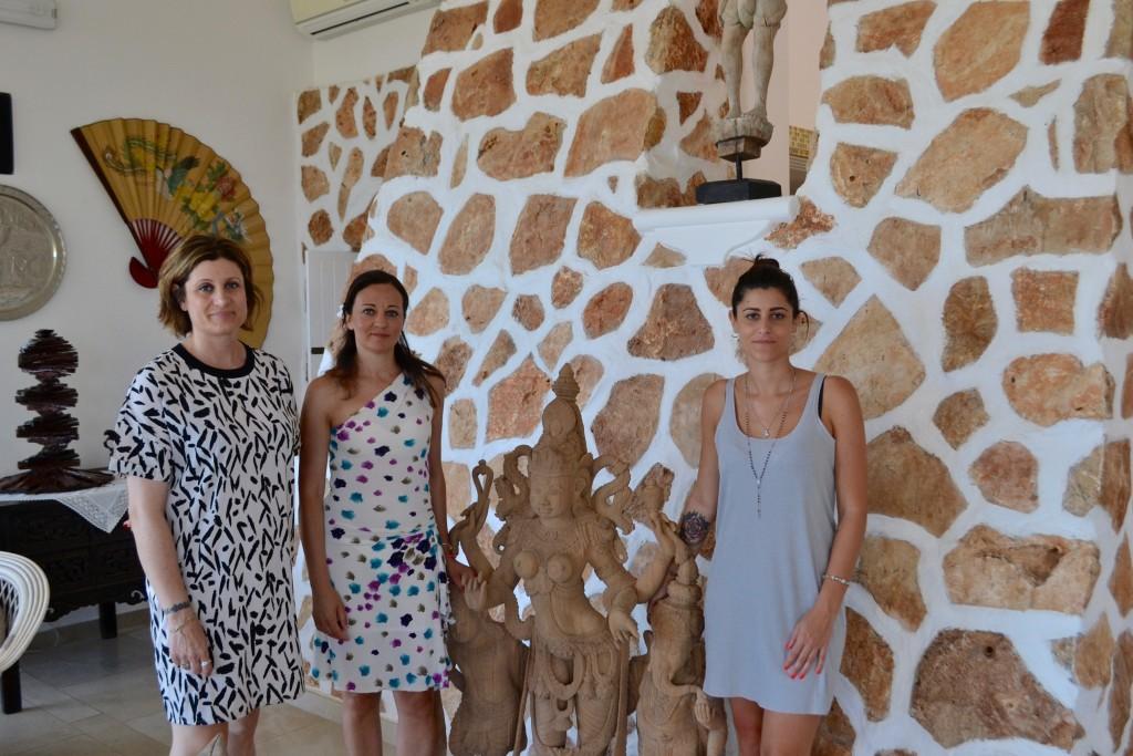 Con la signora Gemma Lombardo, moglie di Giovanni Cappello, e la figlia Gemma
