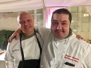 Giuseppe Raciti con il suo maestro Massimo Mantarro